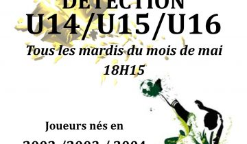 Détection U14/U15/U16 2017 Football Club de L'Isle d'Abeau