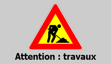 Attention : travaux à L'Isle d'Abeau